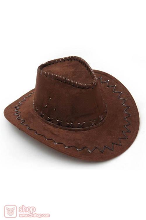 หมวกคาวเกิร์ล-หมวกคาวบอยสีน้ำตาลเข้ม