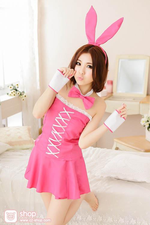 ชุดกระต่ายสีชมพูแฟนซีสุดน่ารัก