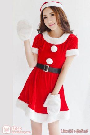 ชุดแฟนซีซานตี้แบบน่ารักมาพร้อมไอเทมถุงมือสุดน่ารัก