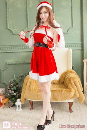 ชุดคอสเพลย์แซนตี้ความน่ารักของสาวชุดสีแดง